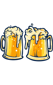 Image of two pints of beer side by side